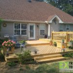 Multi-level open rear patio deck